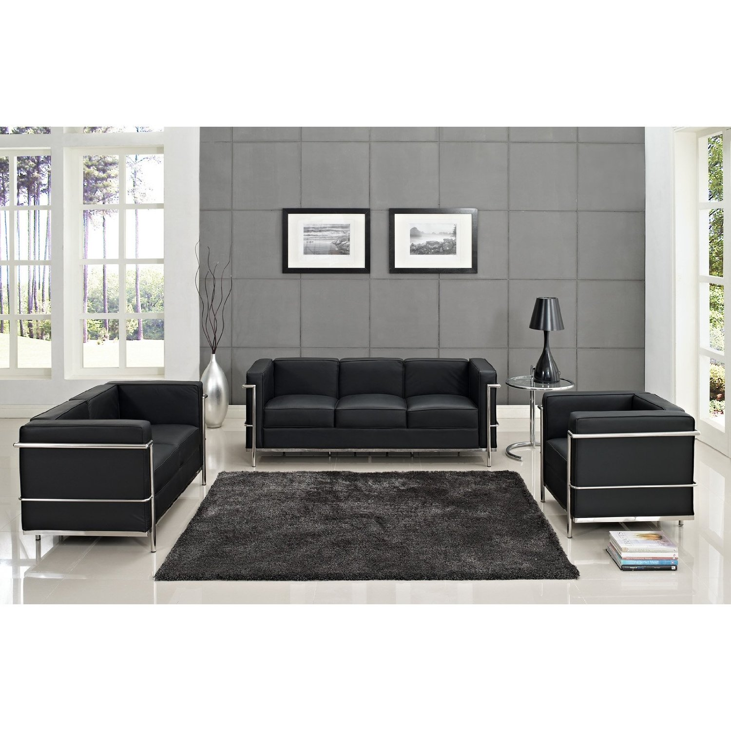 How To Buy Black Leather Sofa line Modern Black Leather Sofa