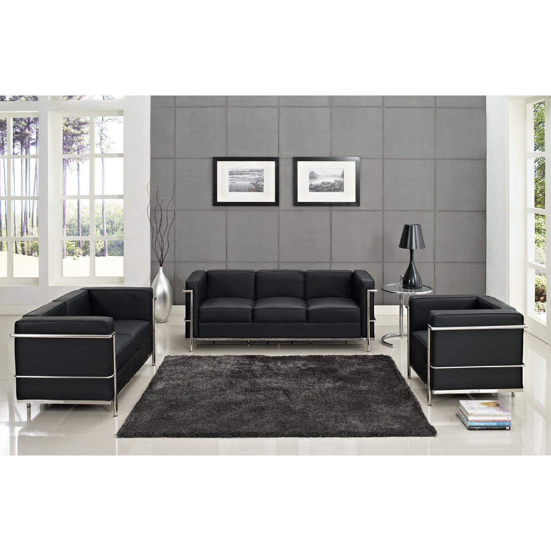 How To Buy Black Leather Sofa line Modern Black Leather Sofa