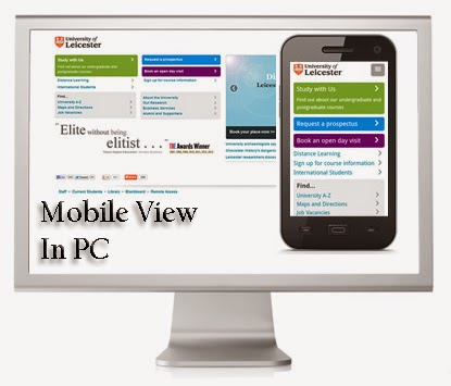 How to view mobile view of any site in your computer