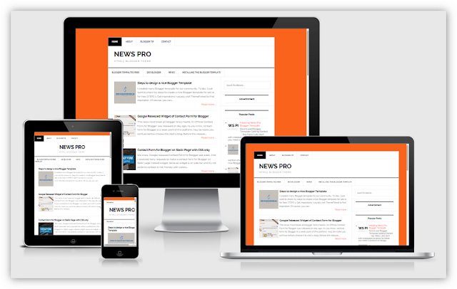 News Pro - Fast and Responsive Blogger Templates