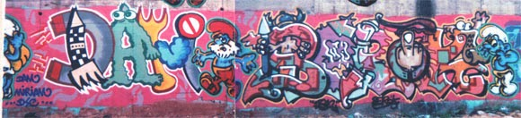 Graffitis Pitufos con Dam Trs