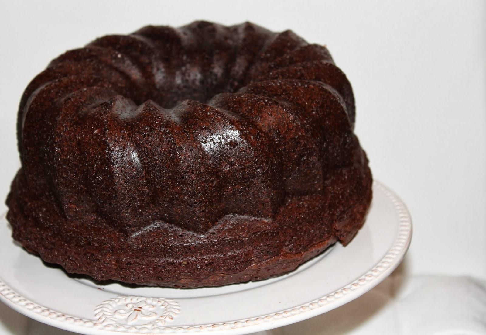 Schokoladenkuchen mit hefe