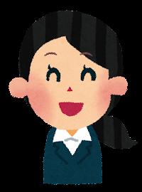 女性会社員(OL)の表情のイラスト「笑った顔」