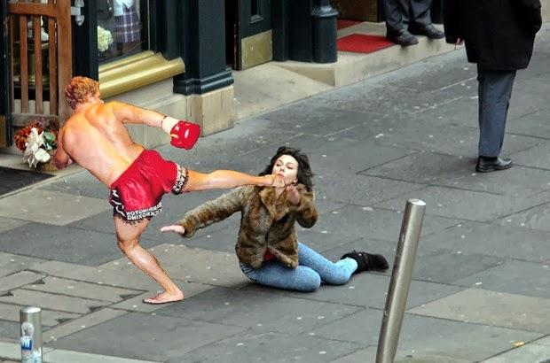 Scarlett Johansson Falling Down 4