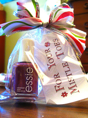 Diy, for your mistle toes, gift, nailpolish