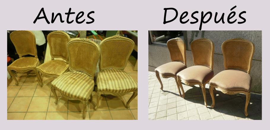 La tapicera sillas de rejilla - Como tapizar una silla con respaldo ...
