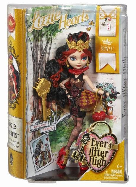 TOYS : JUGUETES - EVER AFTER HIGH  Lizzie Hearts : Doll | Muñeca  Producto Oficial 2014 | Mattel BJG98 | A partir de 6 años
