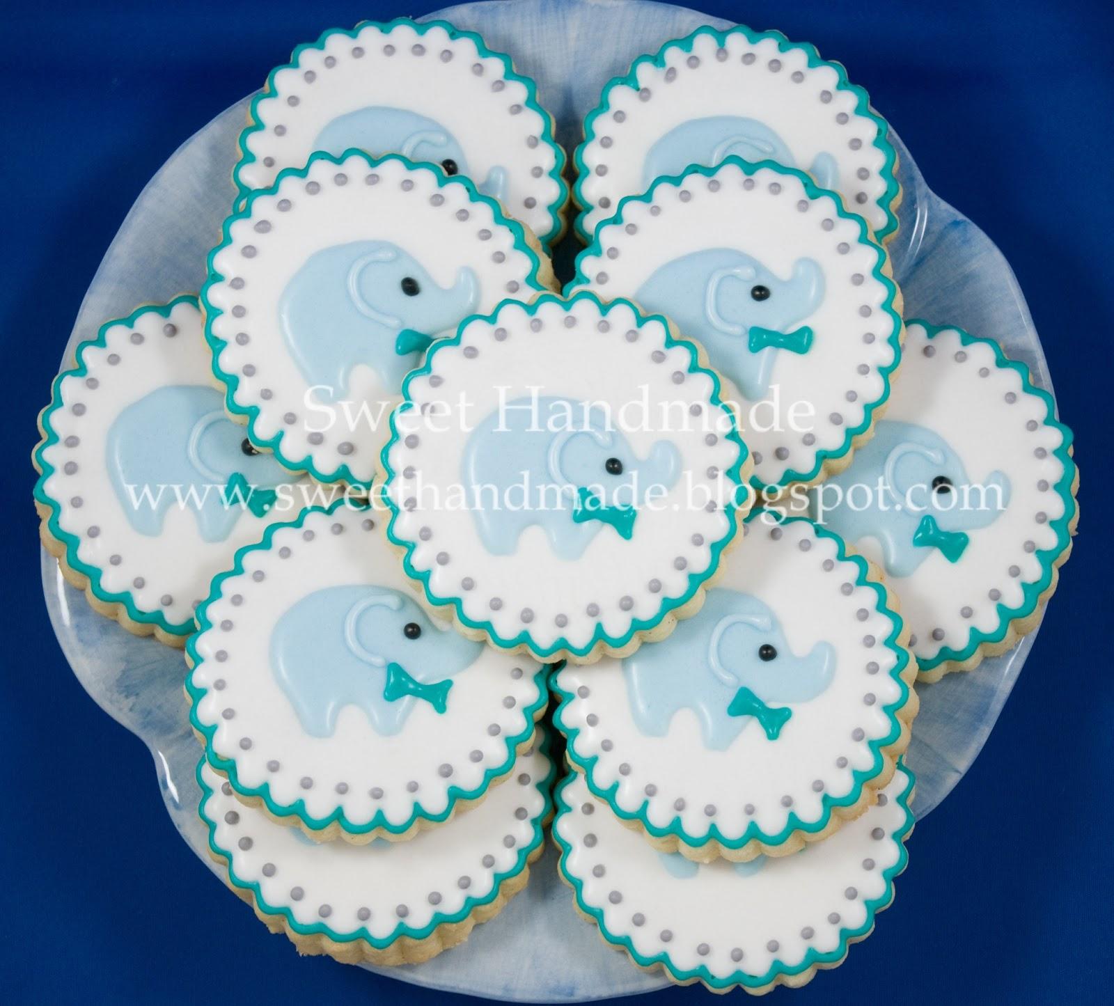 Sweet Handmade Cookies Baby Shower Cookies With An Elephant Theme
