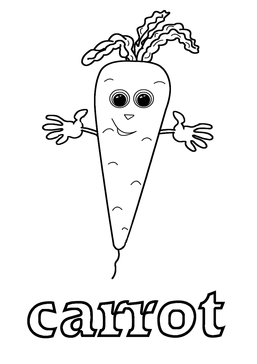 Coloring pages carrot