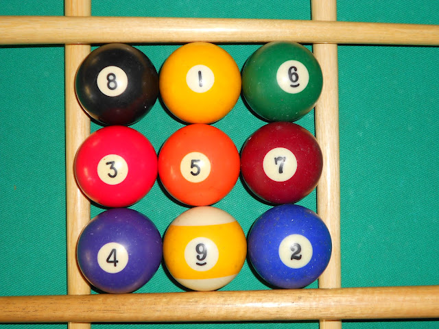 Installation of magic square 3x3 using pool balls photo 4