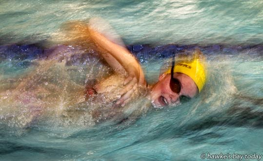 Ruby Adsett, 14, Napier Girl's High School, also Napier Aquahawks Swim Club, will be competing in the East Coast Swimming Championships this weekend, at Napier Aquatic Centre, Onekawa, Napier photograph