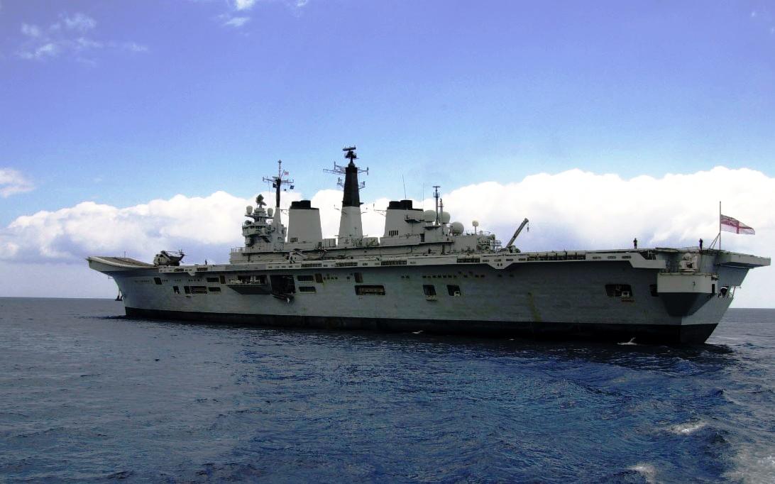 HMS Invincible R05 Aircraft Carrier Ship Wallpaper 4