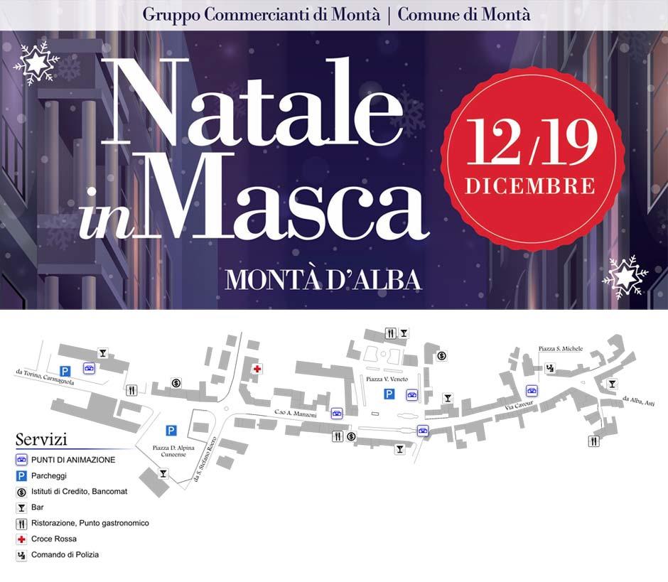 Cartina Montà Natale in Masca