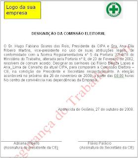 CIPA, designação, eleitoral, convocação