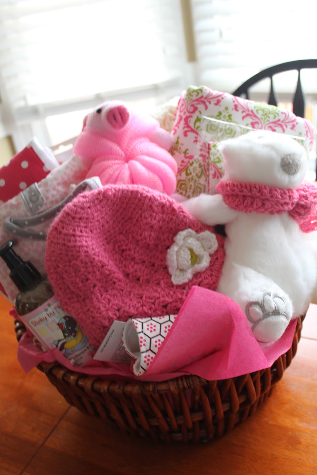 mae armstrong designs  baby shower basket