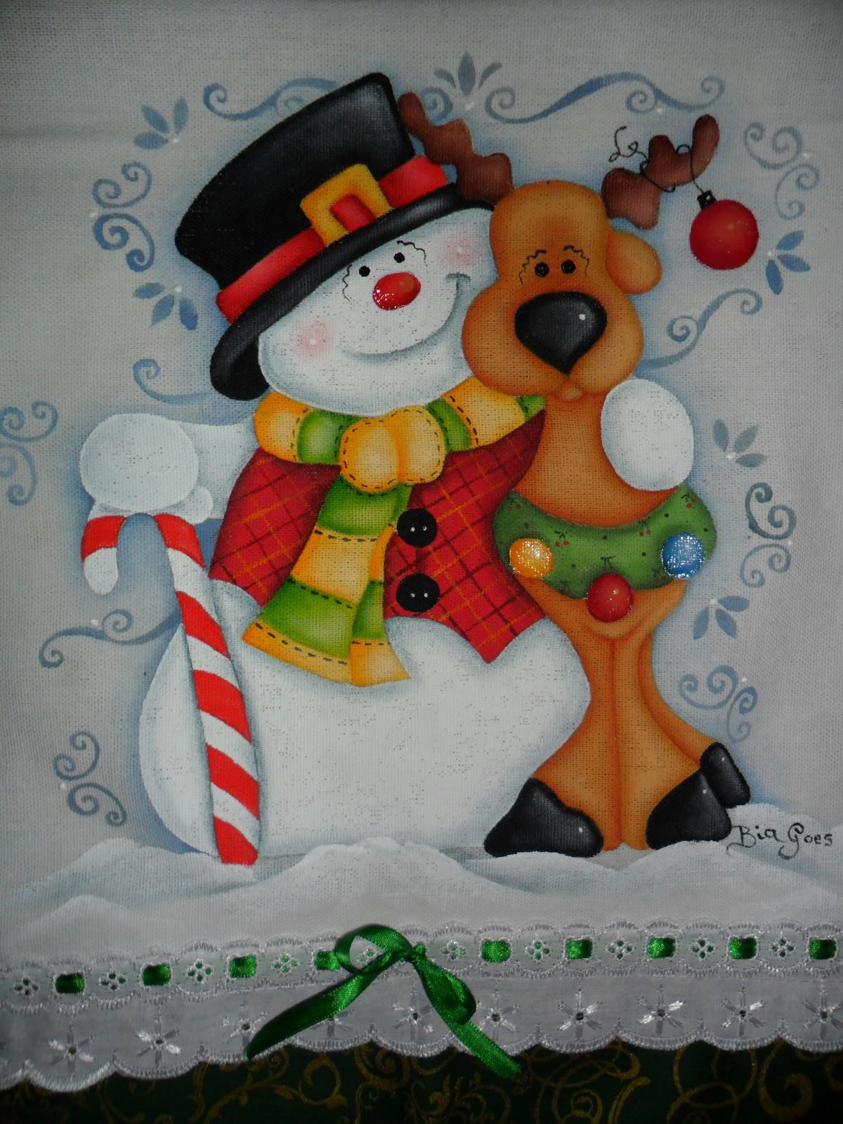 Cantinho da pintura ent o natal ii - Pintura en tela motivos navidenos ...