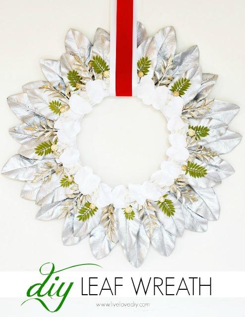 Silver Leaf Wreath | DIY Christmas Wreaths You Will Love