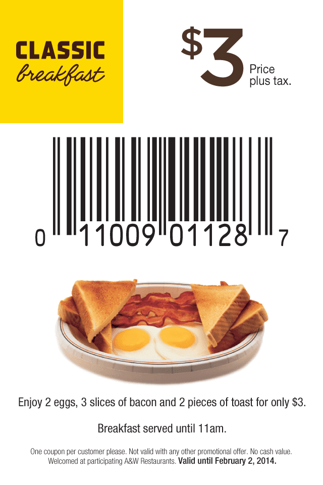 Breakfast coupons