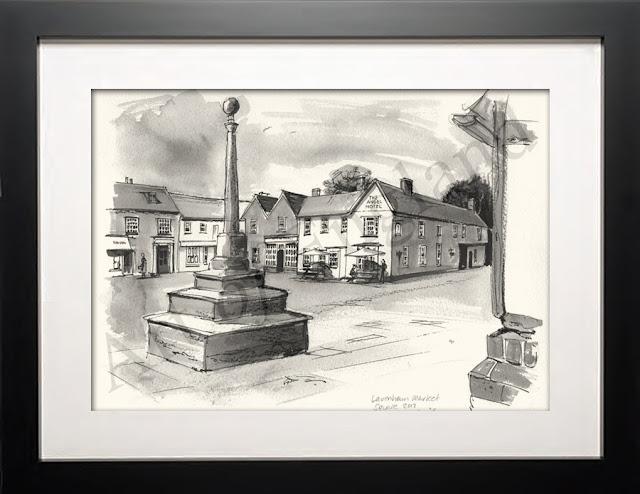 Lavenham Suffolk drawing