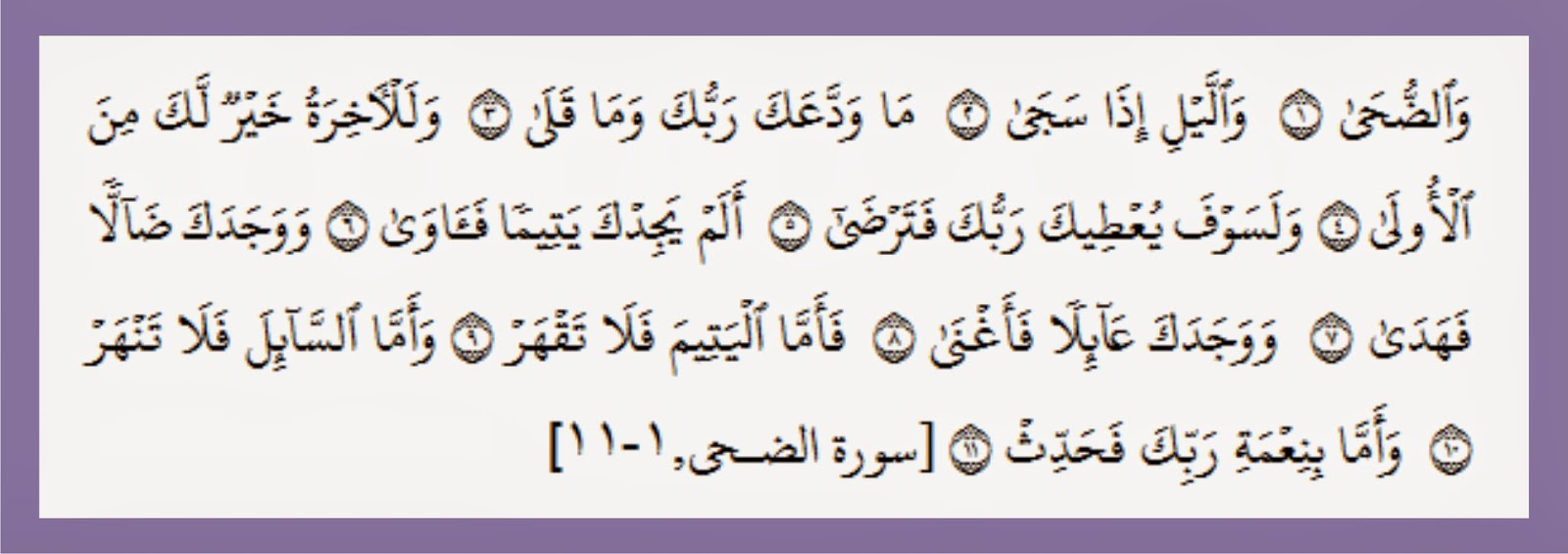 Bacaan Surah Ad Duha dan Arinya