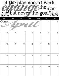 April 2016 Inspirational Calendar