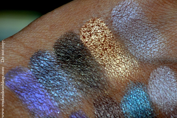 urban decay book of eyeshadows palette swatches vol 4 blue bus gunmetal cobra baked bust
