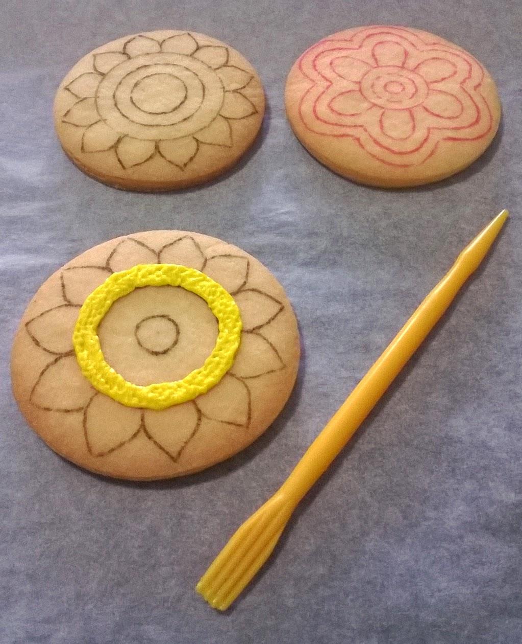 Making pookalam cookies