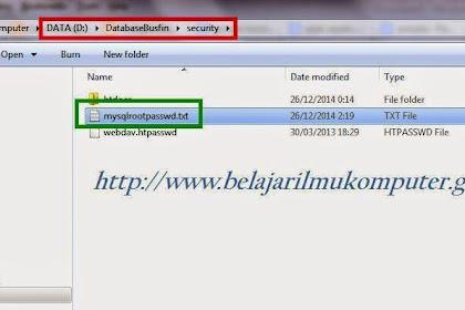 Reset Mysql Root Password Xampp Dalam 5 Detik