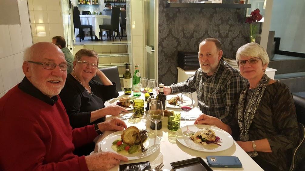Enjoying an Italian Dinner in Genoa, 2016