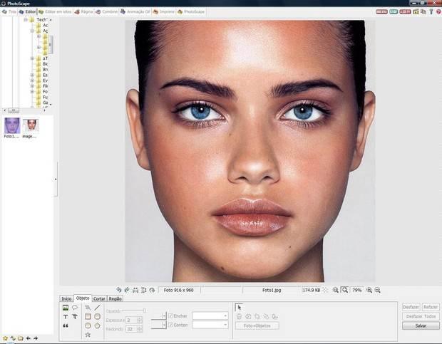 Carregando a imagem no editor Photoscape