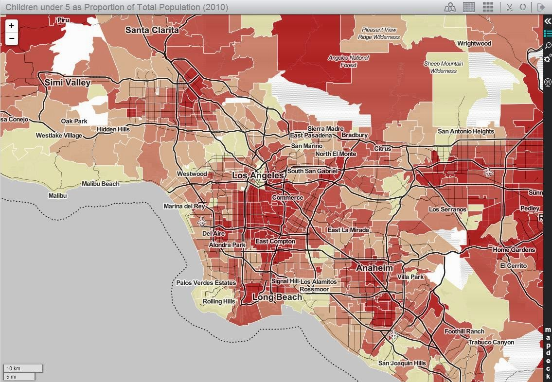 All Things Spatial Census 2010 Data For California Zip Codes