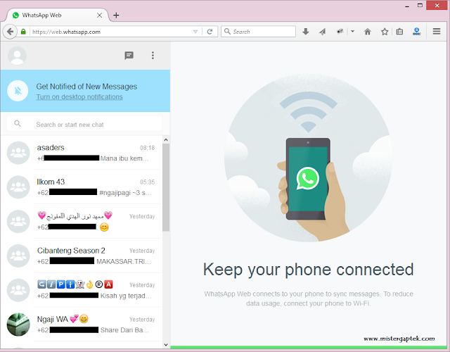 Cara Buka WhatsApp di Komputer via Web Browser (Firefox, Opera, dan Chrome)
