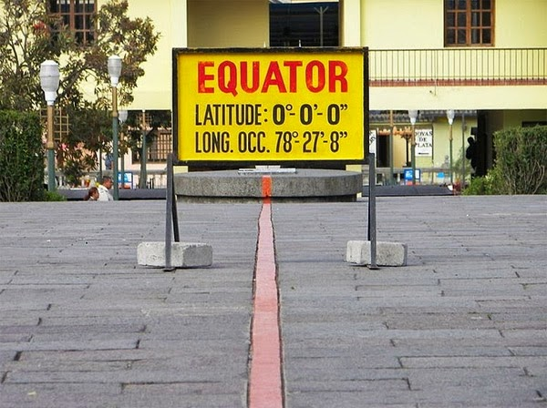 BONUS #1: Place a foot in each hemisphere of the equator