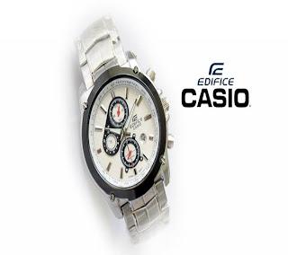 jam tangan keren EF-3120 SILVER WHITE