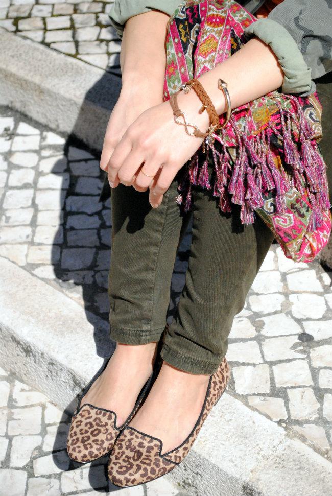 daniela pires, fashion blogger, street style, trend, camuflado, military shirt zara, casual look, tendencia, animal print flats, bimba e lola