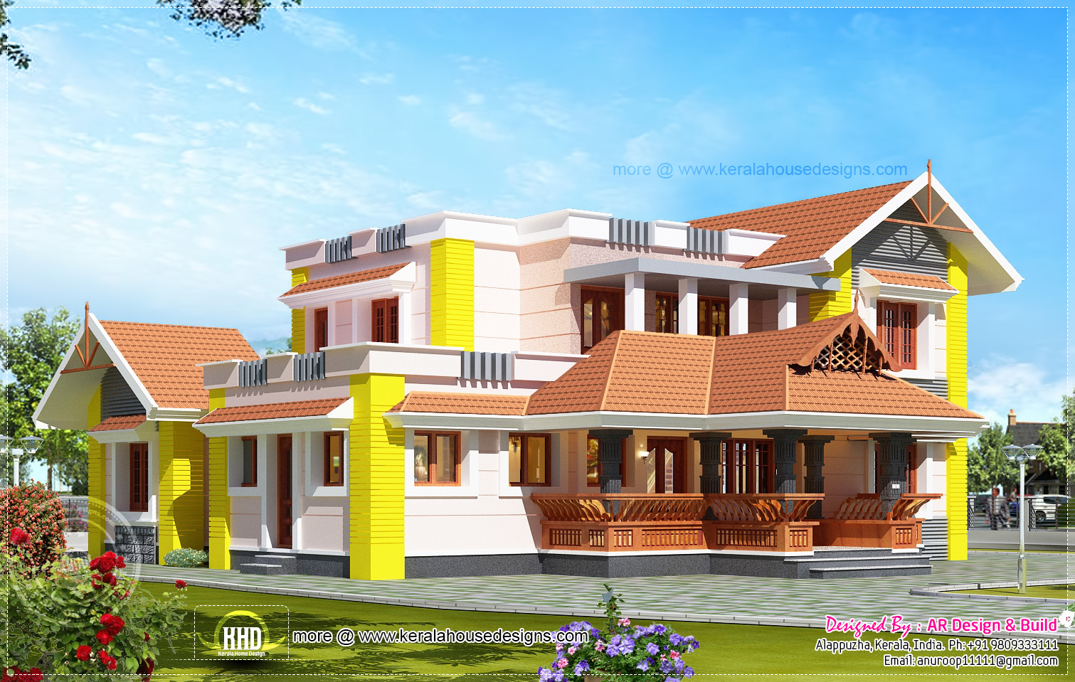 2600 house elevation design kerala home design for 2600 sq ft house plans