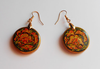 russian Earrings in vintage style