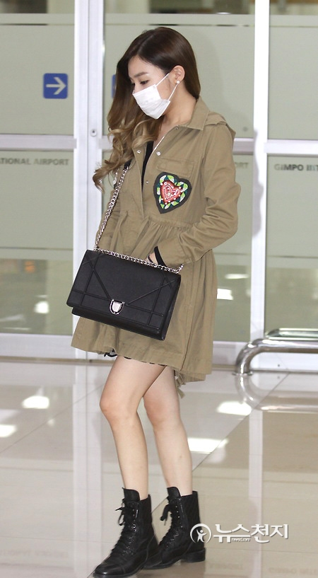 Celebrity Airport Fashion Snsd 39 S Tiffany Airport Fashion October 2015