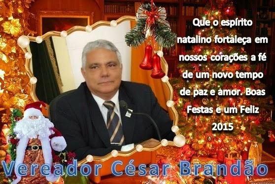 MENSAGEM DO VEREADOR CÉSAR BRANDÃO