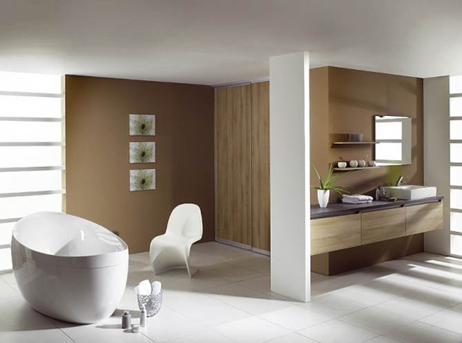 was supported minimalist ambience of natural stone and tropical furniture that was in the bathroom below some examples of minimalist bathroom design - Bathroom Minimalist Design