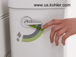 Control de doble descarga en mochila de inodoro