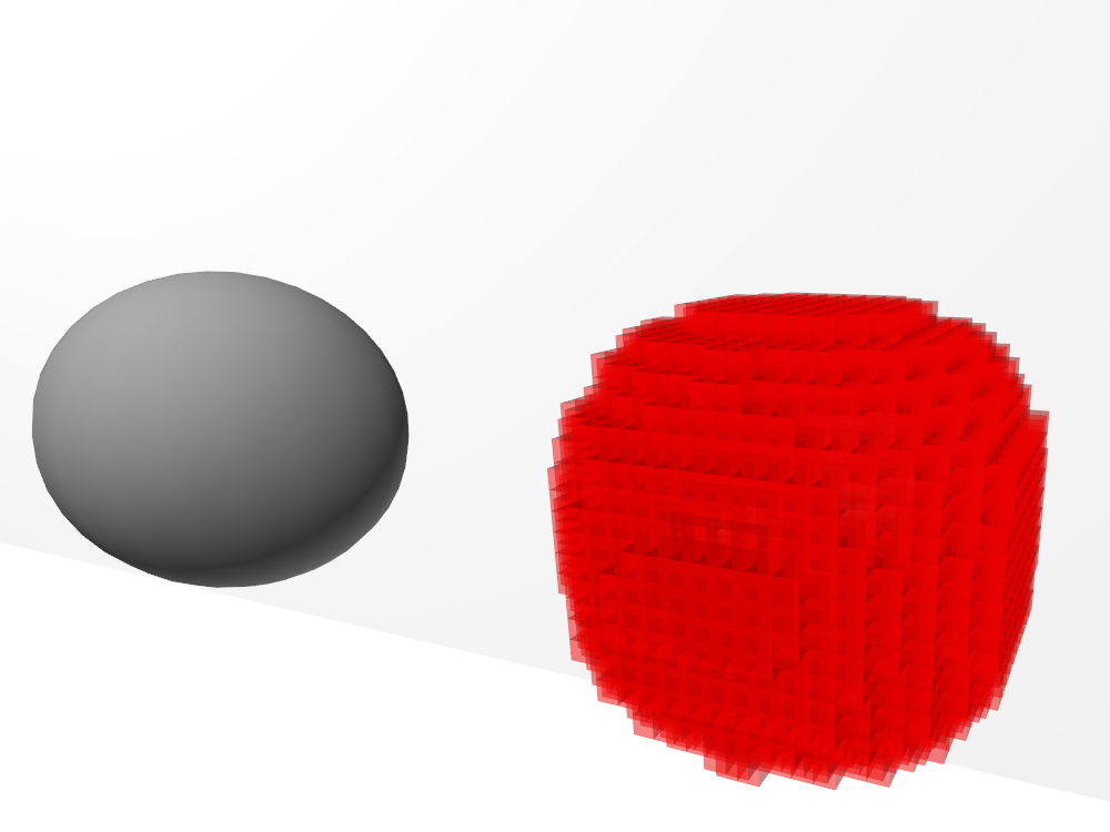 voxelized sphere