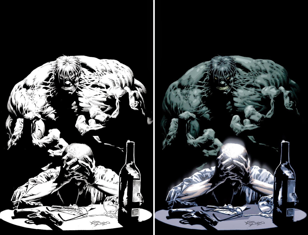 Osmarco Valladão: Research and development: coloring Mike Deodato