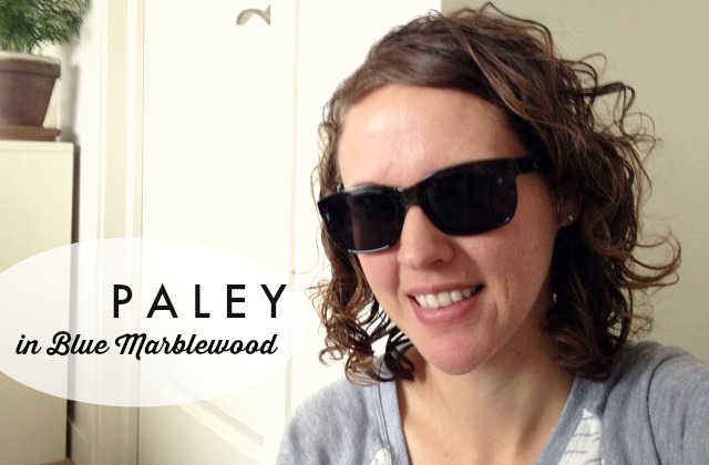 Warby Parker Prescription Sunglasses // paley in blue marblewood