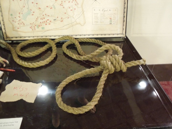 Hangman's rope prop The Conjuring