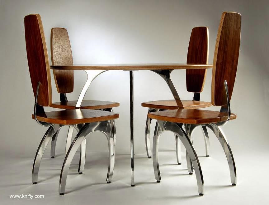 Arquitectura de casas mobiliario de comedor diario de for Mobiliario comedor