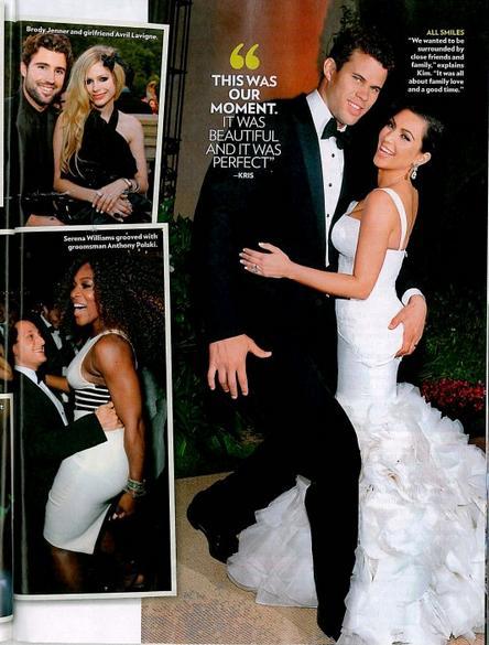 Kris Humphries e Kim Kardashian no casamento