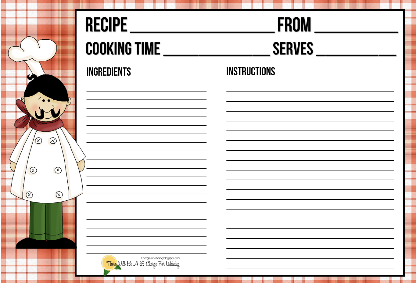 http://www.scribd.com/doc/217113812/Recipe-Card-Chef