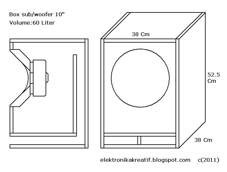 """Percobaan - ukuran box subwoofer 10"""" sphinx sx-1020-2"""
