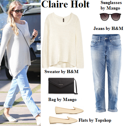 claire holt, the originals, sweater, weekend, boyfriend jeans